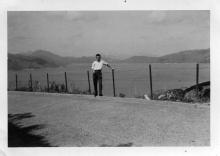 Me Walking back from town 22 Oct 57