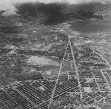 Mong Kok, Sham Shui Po and Kai Tak - Aerial early 1950s