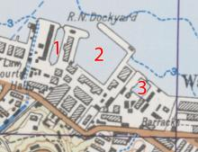 1952 map of Naval Dockyard