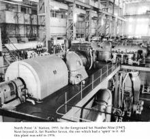 North Point 'A' power station turbine hall in 1955