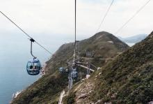 Ocean Park cable cars above Brick Hill