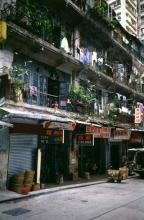 Pre war tenements in Wan Chai