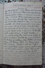 Barbara Anslow's diary for 8 Dec, 1941
