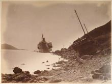 SS Alaska washed ashore by typhoon