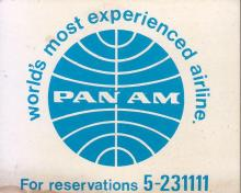 Pan Am Service to Hong Kong