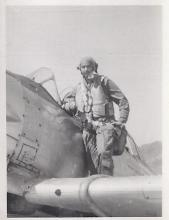 Randall preparing for flight in Harvard at Sek Kong.jpg