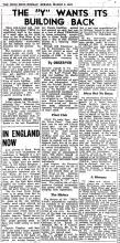 Return the YMCA back to its owners-HK Sunday Herald-2 March 1947