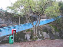 Sai Wan fort ramp up to AA battery