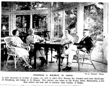 Atholl MacGregor with Allan Mossop and wives in Japan 1935