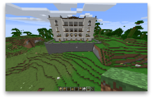 Minecraft French mission building front view