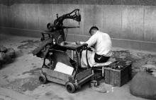 Shoe Repairman with Wheels 1955-56