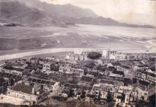 Tai Po Theatre and neighbours, 1950s aerial photo