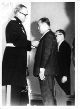 Undated - Stephen WONG Yuen Cheung with Sir David Trench (24th Gov of HK)