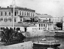 Keying House/Oriental Hotel corner of Pedder & QRC c1858