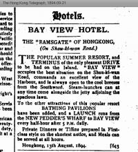 Bay View Hotel advert 1894
