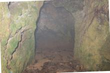 Site I: view inside tunnel