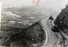 Tanks on the road