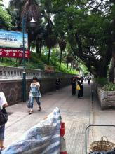 Nathan Road, hillside in front of St. Andrews Church
