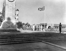 Ceremonies at a cenotaph