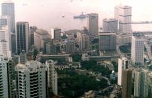 From the Peak tram viewing platform over Central