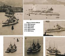 1938 Ships in Victoria Harbour