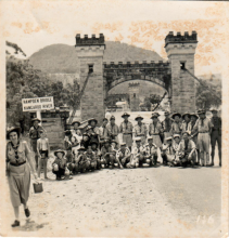 Hong Kong Scouts visit Hampden Bridge in Kangaroo Valley, c1953