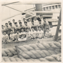Hong Kong Scouts on board Steam Liner Changsha, c1952