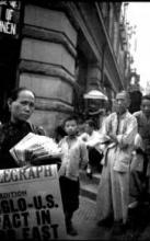 1940s Newspaper Seller on Wyndham Street