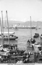 Hong Kong, boats in a harbor