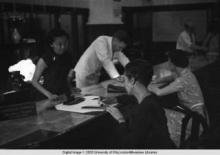 Hong Kong, American evacuees during World War II at the American Express Travel Department