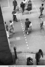 Hong Kong, view of pedestrian crossing