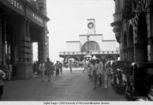 Hong Kong, street scene in front of Kowloon Ferry