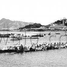 c.1920 Dragon boat racing off North Point (?)