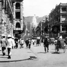 c.1935 Des Voeux Road at Central Fire Station