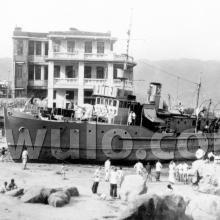 1936 Typhoon: beached ship