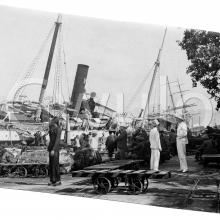 Kowloon Wharves after the 1906 typhoon