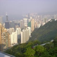 View from the peak on Wan Chai and Causeway Bay (2000)