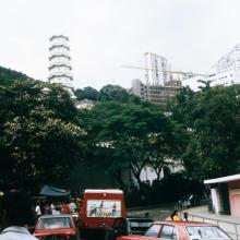Tiger Balm Pagoda from Tai Hang Road, 1974