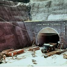 Work went ahead inside the Lion Rock Tunnel 1965