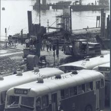 Old Tsuen Wan Ferry Pier reclamation and bus station 1982