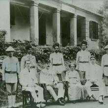 Group pictured outside Pokfulam Police Station in 1913