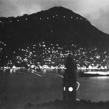 Hong Kong 1930s, view over the harbour from Kowloon