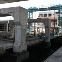 Vehicle loading ramp at the Kwun Tong vehicular ferry pier