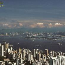 Hong Kong, morning view from Victoria Peak, 1983
