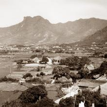 1935 View towards Kowloon City and Lion Rock