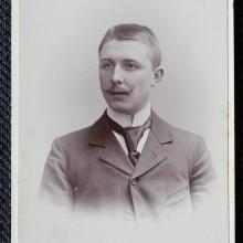Portrait Willem Kien, Dresden ca. 1895, photo studio Hahn's