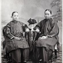 Hotz collection: Two Young Hong Kong women, ca. 1870