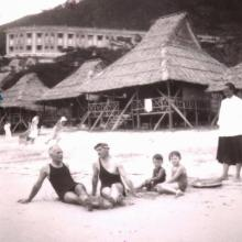 Grandpa and co at Repulse Bay, Hong Kong 1933
