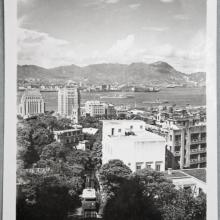 Postcard Hong Kong: view from Peak mid levels, ca. 1951