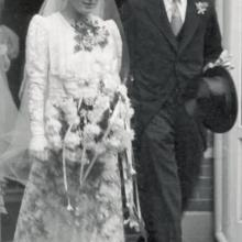 Wesselingh family archives: wedding photo Jan and Mieke Wesselingh, The Netherlands, 1936
